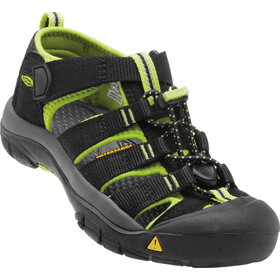 Keen Newport H2 Sandals Ungdom black/lime green